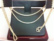 "20"" Gold Rope Chain 14K Yellow Gold 3g"