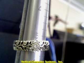 DIAMOND  SOLITAIRE RING L'S 10KT DIAMOND  2.7/WG