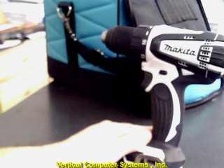 LXFD01 DRILL MAKITA  BELT CLIP ON BOTTOM BLK_/WHITE