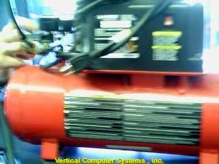 HHD2NK AIR COMPRESSOR (ELEC.) HUSKY  WITH HOE GUAGES RUN GOOD RED/BLK