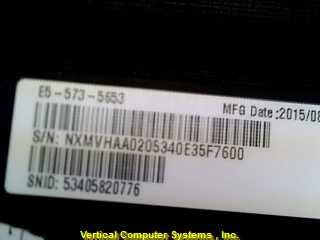 E5-573-5653 COMPUTER-LAPTOP ACER  POWER SUPPLY SN: 6BLW3S0D9V BLK