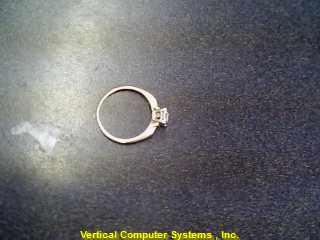 WHITE STONE(S)  FASHION RING L'S 14KT WHITE STONE(S)  1.2/YG