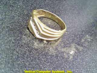 CHIPS  FASHION RING M'S 10KT CHIPS DIMINISHED 2.1/YG