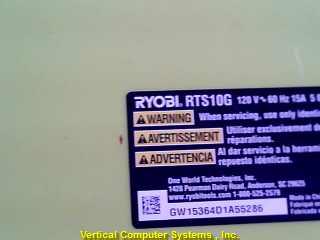 RYOBI Table Saw RTS10G