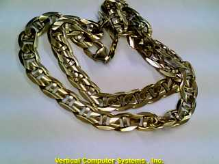 "23"" C LINK Gold Anchor Chain 10K Yellow Gold 48.4dwt"