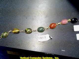 MULTI_COLORED_STONE BRACELET L'S 14KT  PW782 7.6/YG