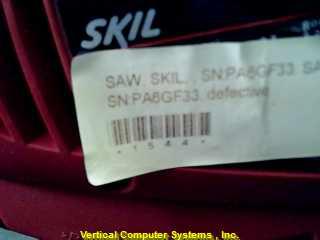 4380 CIRCULAR SAW SKIL  50-60 HERTZ RED