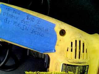 DW106 DRILL DEWALT  AC, ID# 3016, CORDED YELLOW