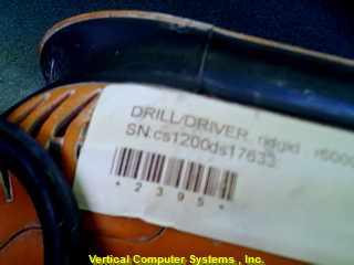 R60001 SCREW GUN-DRIVER RIDGID  CORDED, ID# 2395 ORANGE/BLACK