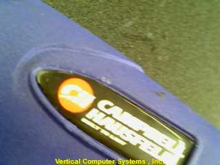 CAMPBELL_HAUSFIELD CHN20103 NAIL GUN   IN HARD CASE, ID# 3179 DARK_BLUE