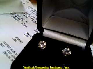 DIAMOND  EARRINGS L'S 14KT DIAMOND PW819 .7/YG