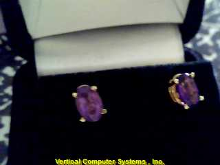 STUD  EARRINGS L'S 14KT STUD HECTOR HANDMADE PW39B1 .5/.5