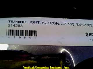 ACTRON CP7515 AUTO TIMING LIGHT   CORDS AND CLAMPS INCLUDED, ID#1954 METALLIC