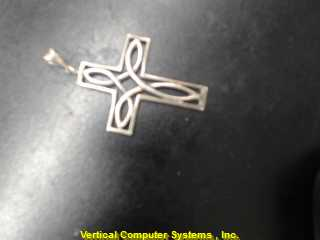 CROSS  CHARM STERLING SILVER CROSS  6.8DWT/SILVER