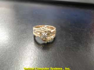 DIAMOND  WEDDING BAND L'S 14KT DIAMOND TWO TONE 3.6DWT/YG