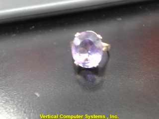 L'S 14KT Purple Stone Lady's Stone Ring PURPLE STONE(S) 14K Yellow Gold 2.5dwt