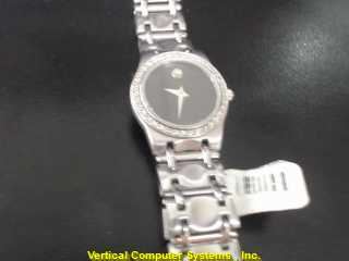 MOVADO 000508 GOLD/SILVER WATCH PLATED   925KWG WMS WATCH,0.05 R