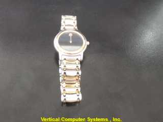MOVADO 81.E3.815.5 GOLD/SILVER WATCH PLATED   WATCH WMS 6