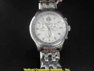 JAQLEMAN G-118 GOLD/SILVER WATCH PLATED   JACQES LEMANS CHRONO S/S WATCH