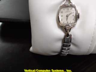 HAMILTON LADY GOLD/SILVER WATCH PLATED   14KWMS #18 CLUS WATCH