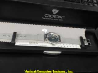 CROTON HEBREW GOLD/SILVER WATCH PLATED   WATCH
