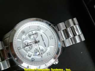 MK 8086 GOLD/SILVER WATCH PLATED   113.2KST SIL MNS WATCH