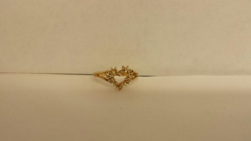 Lady's Diamond Fashion Ring 28 Diamonds .140 Carat T.W. 14K Yellow Gold 1.5dwt