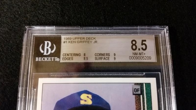 1989 Ken Griffey Jr. #1 Upper Deck Rookie Beckett Graded 8.5 NM-M+