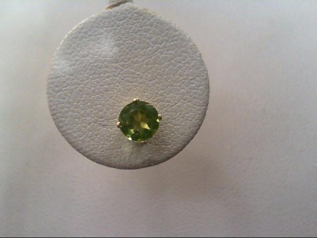 Peridot Gold-Stone Earrings 10K Yellow Gold 0.7g
