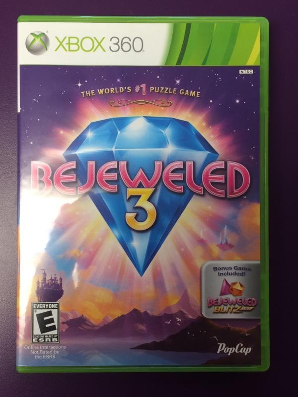 Bejeweled 3 - (Microsoft Xbox 360, 2011) COMPLETE!