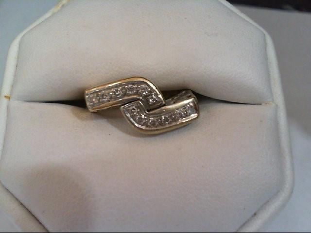 Lady's Diamond Fashion Ring 12 Diamonds .36 Carat T.W. 14K 2 Tone Gold 6.3g