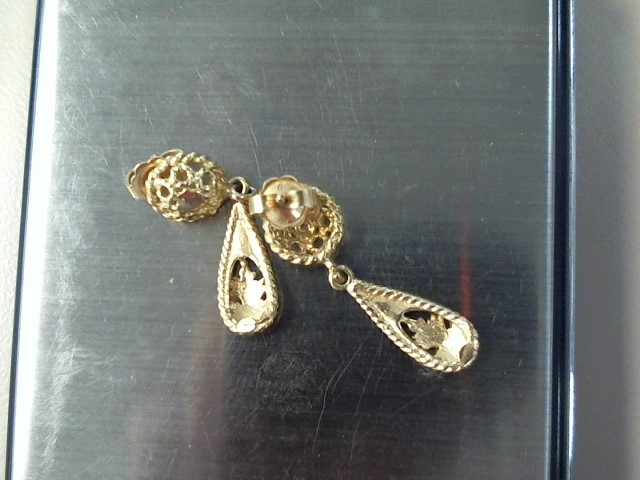Gold Earrings 10K Yellow Gold 1.7dwt