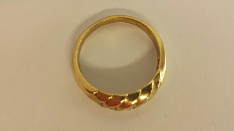 Lady's Diamond Engagement Ring 5 Diamonds .15 Carat T.W. 14K Yellow Gold 3.2dwt