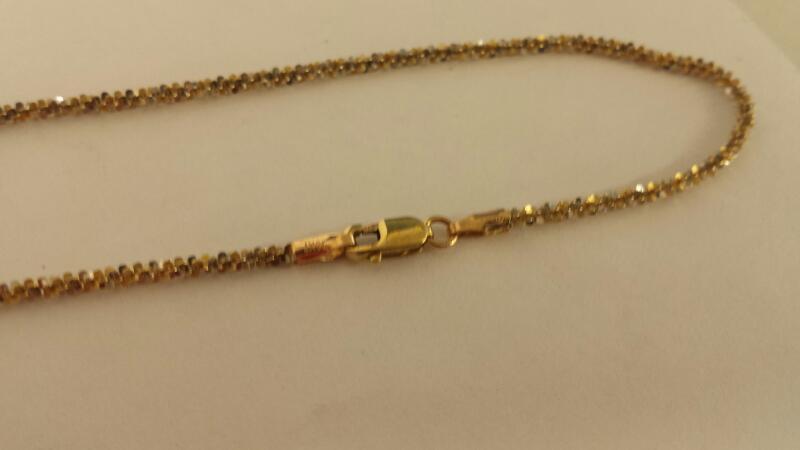 "21"" Gold Fashion Chain 10K Yellow Gold 2.1dwt"