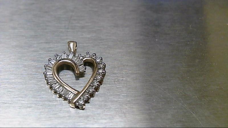 Gold-Multi-Diamond Pendant 26 Diamonds .130 Carat T.W. 10K Yellow Gold 1.4g
