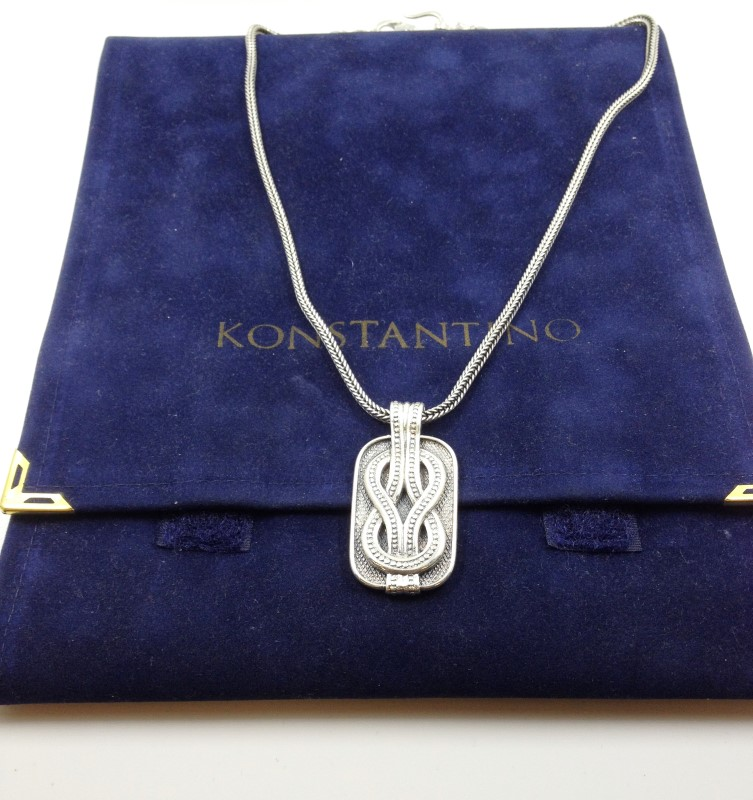"Konstantino Sterling Silver Pendant with 18"" Chain"