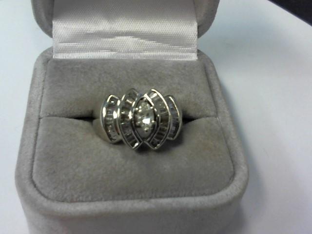 Lady's Gold-Diamond Anniversary Ring 43 Diamonds .67 Carat T.W. 14K White Gold