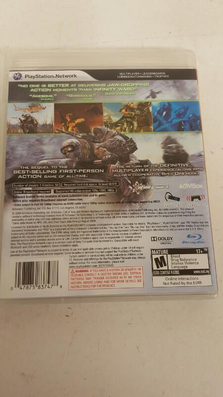 Call of Duty Modern Warfare 2 GAME Sony Playstation 3 PS PS3  FREE SHIPPING