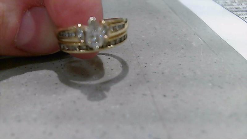 Lady's Diamond Wedding Set 21 Diamonds .57 Carat T.W. 10K Yellow Gold 5.3g