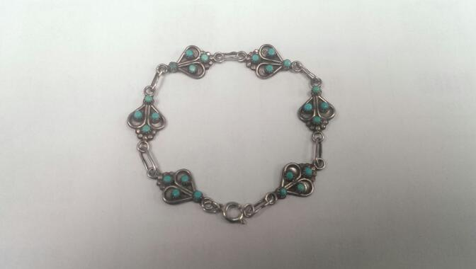 Turquoise Silver Bracelet 925 6.6g