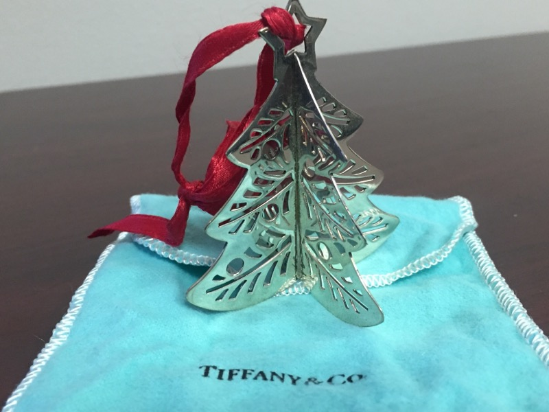 TIFFANY & CO Glass/Pottery CHRISTMAS TREE ORNIMATE
