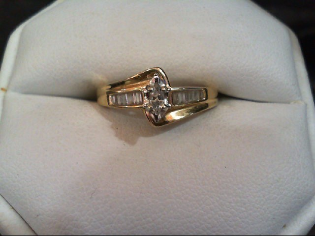 Lady's Diamond Engagement Ring 13 Diamonds .24 Carat T.W. 14K Yellow Gold 3.2g