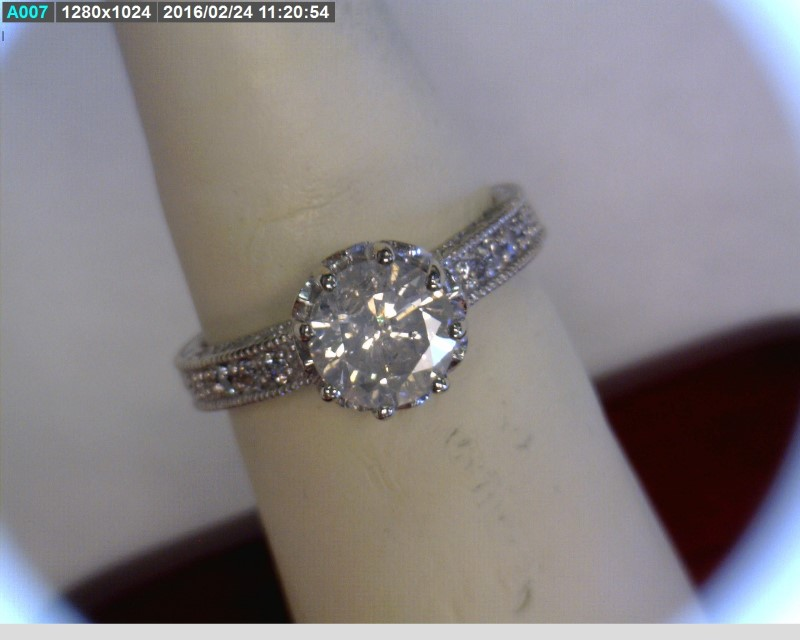 Lady's Diamond Engagement Ring 31 Diamonds 1.81 Carat T.W. 14K White Gold