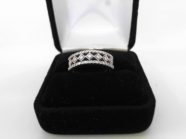 Lady's Diamond Wedding Band 41 Diamonds .82 Carat T.W. 10K Yellow Gold 3.37dwt