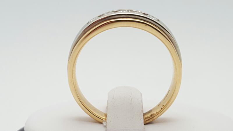 Gent's Gold-Diamond Wedding Band 5 Diamonds .50 Carat T.W. 14K Yellow Gold 8.9g