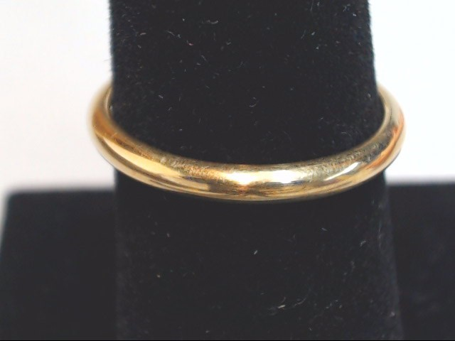 Lady's Gold Wedding Band 14K Yellow Gold 2.4g Size:7