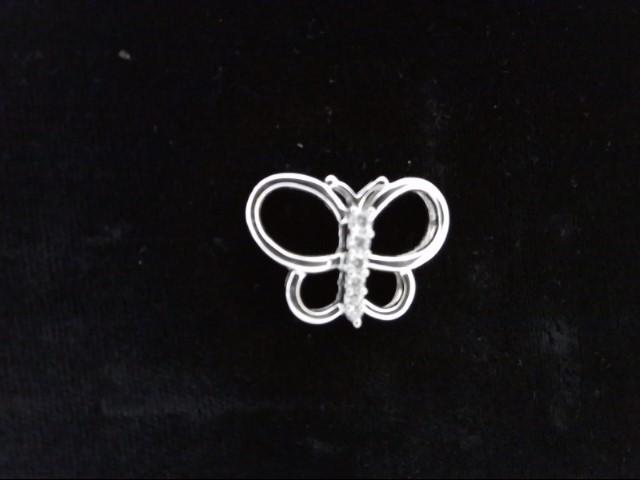 Gold-Multi-Diamond Pendant 6 Diamonds .24 Carat T.W. 14K White Gold 4.2g