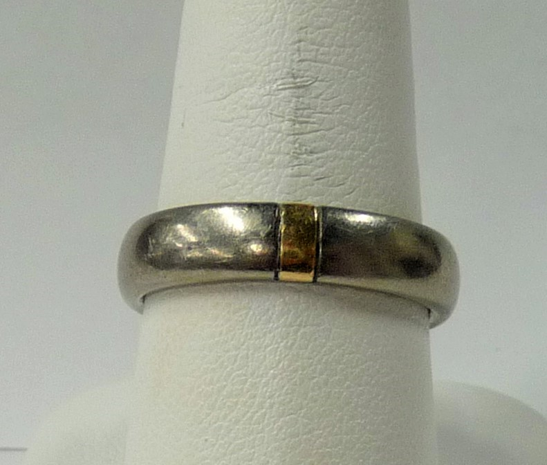 Gent's Platinum Wedding Band 585 Platinum 1.64dwt