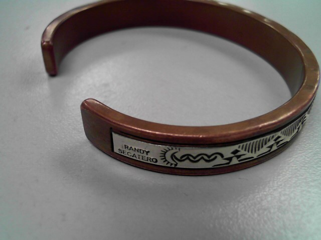 SILVER AND COPPER BRACELET.