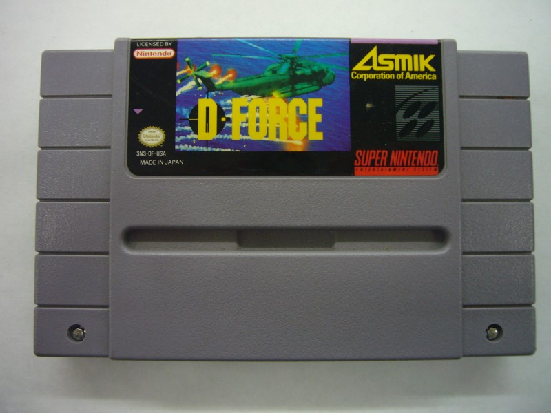 NINTENDO SNES Game D-FORCE *CARTRIDGE ONLY*